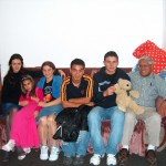Lee Comacho visits with some of the orphans CFIM has helped care for. From left to right:  Eliza, Christina, Vali, Florin, Claudiu, Lee Camacho.  They are only orphans by earthly standards for they are all children of the Most High God and our brothers and sisters in Christ! PTL!