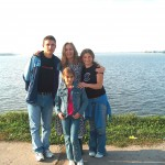 Here is MJ in the middle surrounded by some of the Romanian Orphans CFIM has helped care for. Claudiu on MJ's  right and Christina on her left and Vali in front. The Lake this picture was taken at is Laccil Mori in Crangas.
