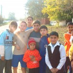 Romanian Children on their way to school